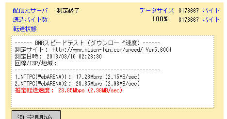 8BNR-スピードテスト